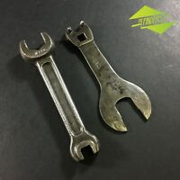 LOT X2 VINTAGE 'IDEAL' BICYCLE MULTI-TOOL SPANNERS WRENCHES USA MADE