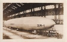 Original RPPC Real Photo Postcard US Navy ZR-1 USS SHENANDOAH ZEPPELIN AIRSHIP 7