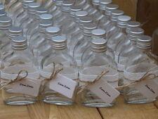 ZamZam Lace Trimmed Empty 50ml Mini Glass Flask Bottles Wedding Favours 1-500