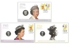 Australia 2016 Queen Elizabeth II 90th Birthday Stamp & Coin Cover PNC Set of 3