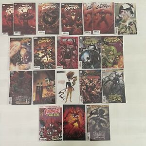 Absolute Carnage Lot of 19 Cates 1-4 Scream Deadpool Miles 1 2 3 Spider-Man 2019