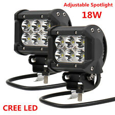 Adjustable 18W CREE LED Driving Fog Spotlight Headlight Lamp w/ Mounting Bracket