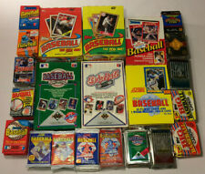 Old Vintage Baseball Cards In Unopened Packs From Wax Box, 100 Card Lot 1987-95