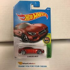 '15 Mercedes-AMG GT #338 * RED * 2017 Hot Wheels Case P * C27