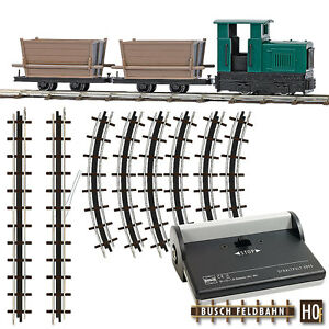 Busch Hof 12001 Field Railway Start Set With Gate Floren # New IN Boxed#