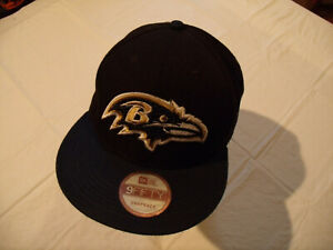 Baltimore Ravens Black/Blue NFL Hat New Era 9Fifty Adult Snapback Used
