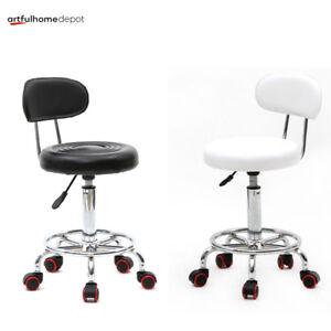 Hydraulic Rolling Swivel Stool Salon Spa Tattoo Chair Facial Massage Equipment