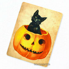 Jack in the Pumpkin Deco Magnet, Decorative Fridge Black Cat Holloween Mini Gift