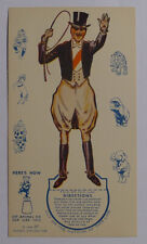 1939 Ice cream cards F51-2 Circus Cup Stands ups Tamer