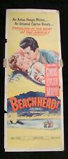 BEACHHEAD movie poster insert TONY CURTIS 1954