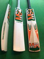 Grade 1 English Willow Cricket Bat - 6 to 9 Grain - Ready to Play - M-SR300