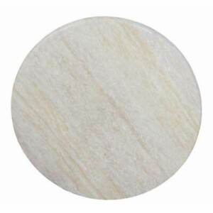 New Table Top Round Outdoor 700mm Commercial Furniture Marble Look Travertine