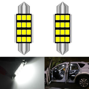 2X Canbus 39MM Festoon DE3175 LED Map/Dome Interior Light Bulbs 6000K White