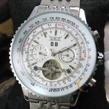 Men Luxury Tourbillon Automatic Mechanical Stainless Steel Sport Date Watch +Box