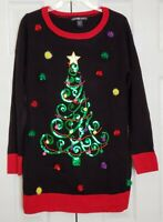 United States Sweaters Holiday Ugly Sweater Christmas Tree W/ Pom Poms Women's M