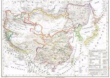 Echte alte Landkarte Map of ASIA China 中国/中华 Korea Han Yang 한국 Japan 日本 1844