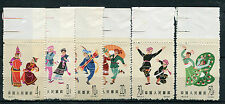 CHINE - 1963, timbres DANSES FOLKLORISTIQUES, CHINESE FOLK DANCES, MNH