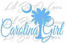 Palmetto & Moon Carolina Girl Vinyl Decal Sticker Palm Tree Car Auto Vehicle