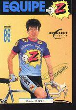 RONAN PENSEC cyclisme cp signée Peugeot GROUPE Z 88