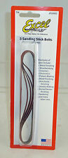 Excel 400 Grit Sanding Stick Replacement Belts 5 Pack