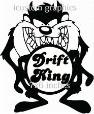 Drift King Vinyle Autocollant Voiture Graphique VW MG FORD VAUXHALL Rally Stock racing fun