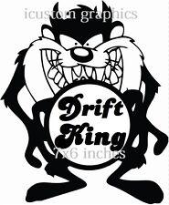 Drift King Vinilo Auto Adhesivo gráficos Vw Mg Ford Vauxhall Rally Stock las carreras de diversión