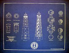 Vintage Lighthouse Milwaukee North Point 1912 Blueprint Plan 14x18 (192)