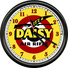 Daisy Red Ryder  Museum Air Riflle BB Gun Logo Retro Sign Licensed Wall Clock