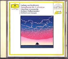 Herbert von KARAJAN: BEETHOVEN Symphony No.3 Eroica & Leonore III DG CD Sinfonie