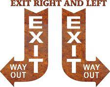 DXF CNC dxf for Plasma Router Clip Art Exit Sign  Plasmacam Man Cave