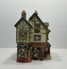 """Dickens Collectables Towne Series """"Quilt Shop and House"""" Lighted, 1995, Retired"""