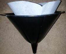 "50 COOKING OIL FUNNEL FILTERS 10"" RECYCLE COOKING OIL"