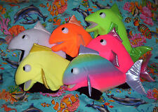 "6 Blacklight Tropical Fish Puppets 17"" long-VBS ministry,Education,Sealife"