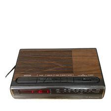 VTG Emerson Woodgrain RED5521A AM/FM Digital Clock Radio With Battery Backup