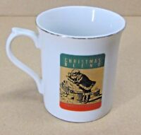 STARBUCKS COFFEE COMPANY 8 oz CHRISTMAS BLEND COFFEE TEA CUP MADE IN JAPAN GOLD