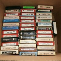 LOT 40 Vintage 8 Track Tape Music Collection Rock N Roll - Pop - Soul - Country