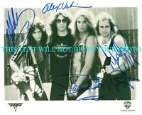VAN HALEN SIGNED AUTOGRAPH 8X10 RP PROMO PHOTO DAVID LEE ROTH EDDIE ALEX MICHAEL