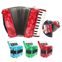 22-Key 8 Bass Piano Accordion for Students Beginners Childern Blue A2V7