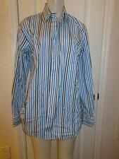 MENS PAUL & SHARK YACHTING BLUE, WHITE, & LIGHT BLUE BUTTON DOWN SHIRT - SIZE M