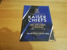 More details for 2019 kaiser chiefs programme from elland road, leeds
