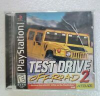 TEST DRIVE OFF-ROAD 2 - PS1 PlayStation 1 PSX GAME 💯 COMPLETE VG BLACK LABEL