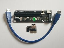 PCIe Express Riser x1 to x16 with USB 3.0 cable  with Molex Power Plug
