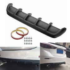 "25""x5"" Car SUV Body Kit Tuning Spoiler Rear Lip Bumper Addon 6 Fin - Matte Black"