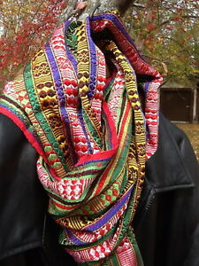 Swati Silk Stole, Lungi Pattern, Multicolor, 18x80