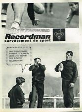 B- Publicité Advertising 1963 Vetements de sport Survetement Recordman