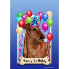 Irish Terrier Happy Birthday Flag