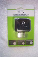 UK Plug to US USA Travel Adapter Plug Black
