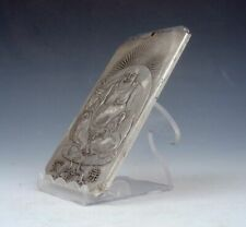 Tibetan Silver Paperweight Pendant Seated Laughing Buddha Mi-Le 4.8OZ #03292008