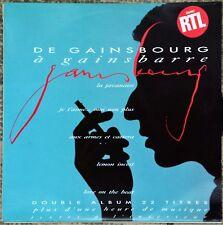 33t Serge Gainsbourg - De Gainsbourg a Gainsbarre - 2 LP