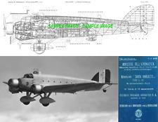 Savoia-Marchetti SM.81 Pipistrello Maintenance Manual RARE ARCHIVE plans etc